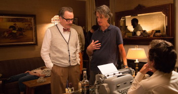 "Bryan Cranston and Jay Roach film a scene for ""Trumbo."""