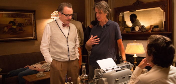 """Bryan Cranston and Jay Roach film a scene for """"Trumbo."""""""