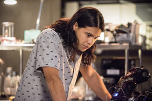 """The Flash -- """"Paradox"""" -- Image: FLA302b_0278b.jpg -- Pictured: Carlos Valdes as Cisco Ramon -- Photo: Dean Buscher/The CW -- © 2016 The CW Network, LLC. All rights reserved."""