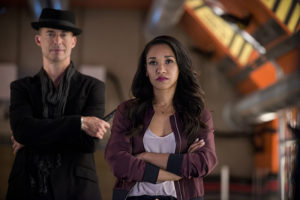 "The Flash -- ""Killer Frost"" -- Image FLA307a_0169b.jpg -- Pictured (L-R): Tom Cavanagh as Harrison Wells and Candice Patton as Iris West -- Photo: Diyah Pera/The CW -- © 2016 The CW Network, LLC. All rights reserved."