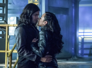 "The Flash -- ""Elongated Journey Into Night"" -- Image Number: FLA404b_0129b.jpg -- Pictured (L-R): Carlos Valdes as Cisco Ramon and Jessica Camacho as Gypsy -- Photo: Katie Yu/The CW -- © 2017 The CW Network, LLC. All rights reserved."